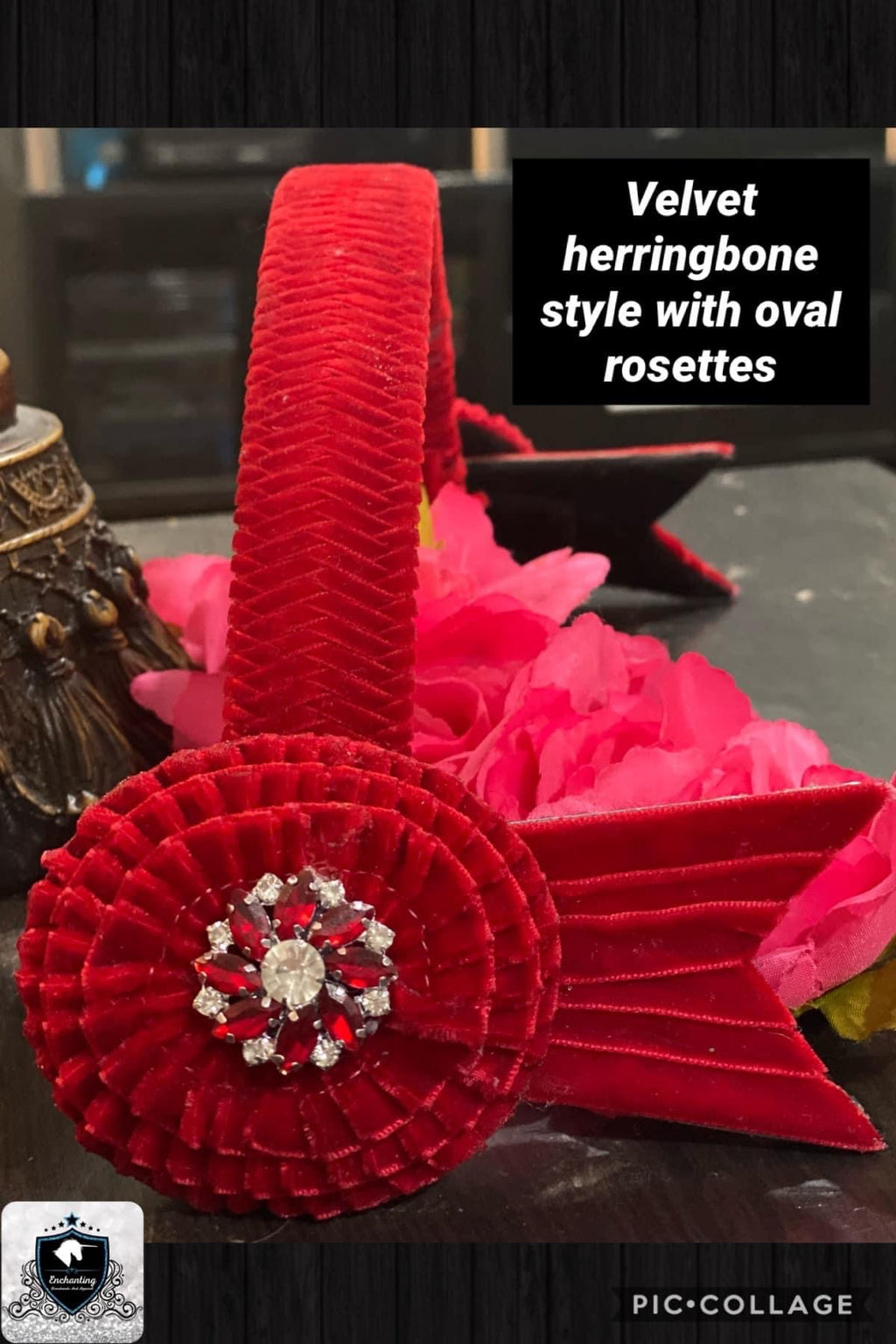 Herringbone browband