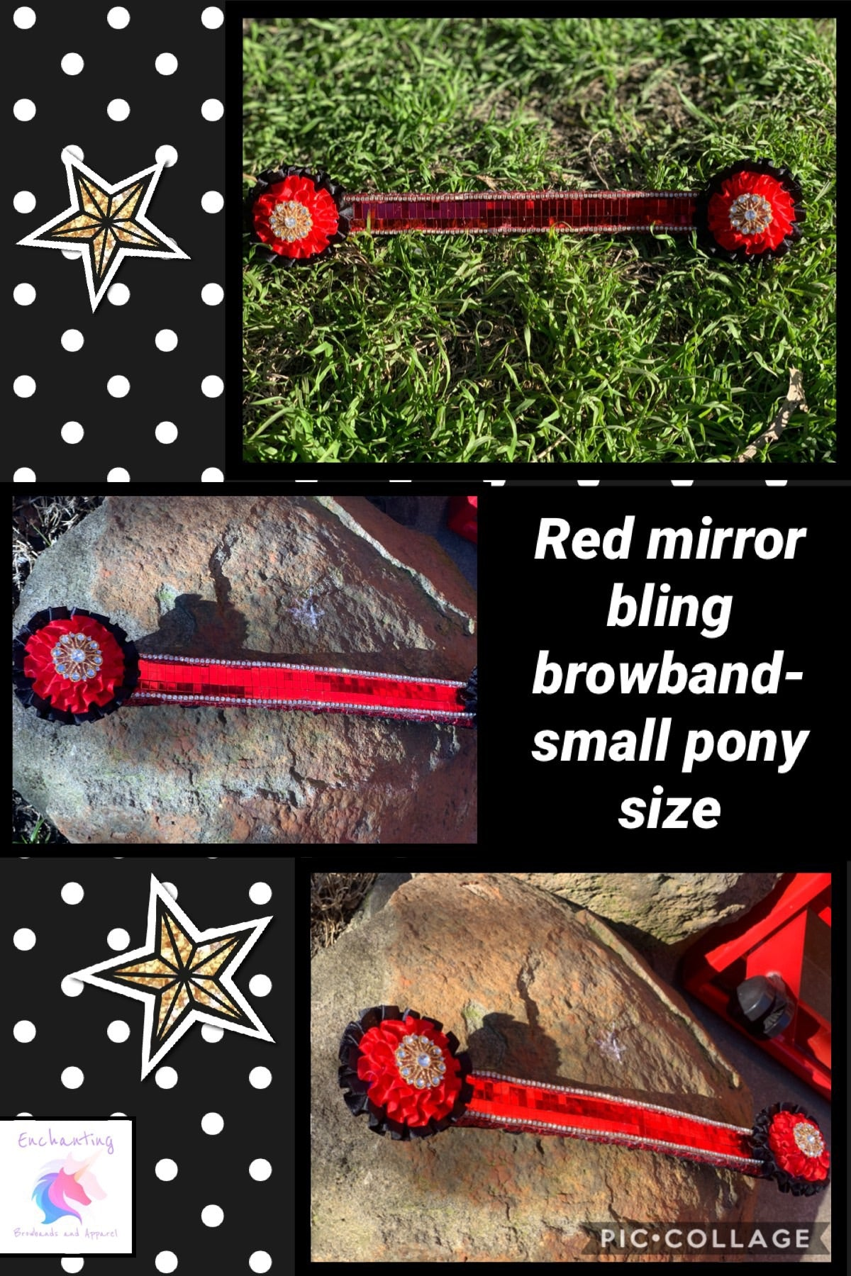 Mirror bling browband
