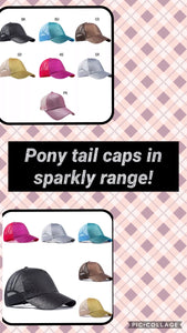 Pony tail caps (sparkly)