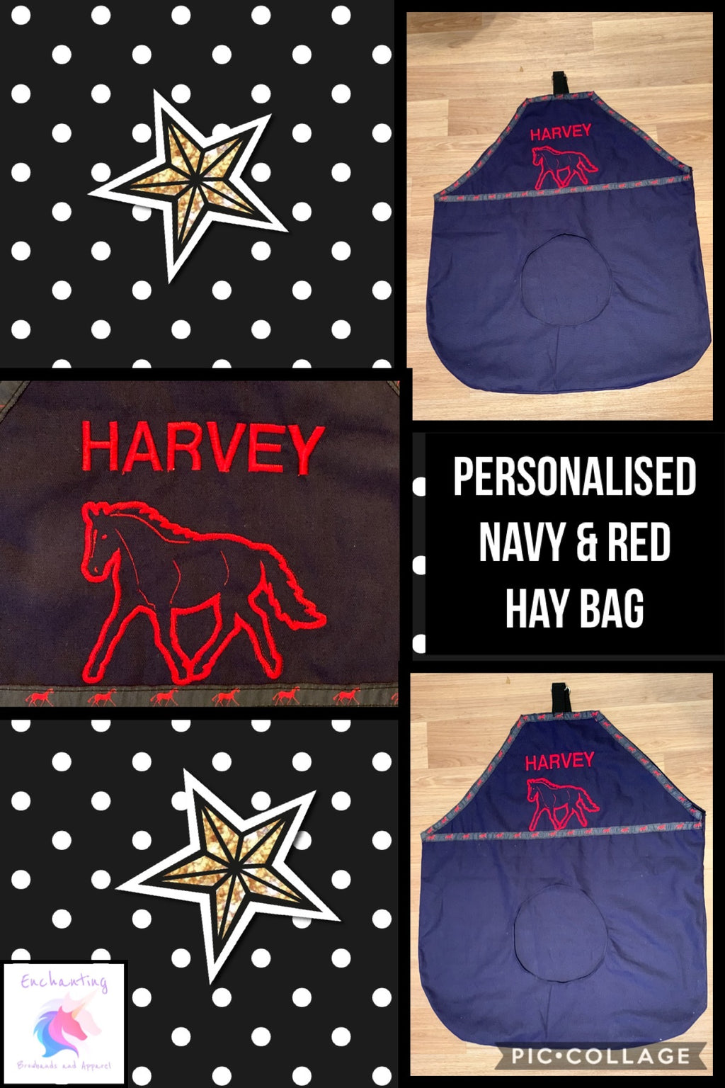 Personalised hay bag