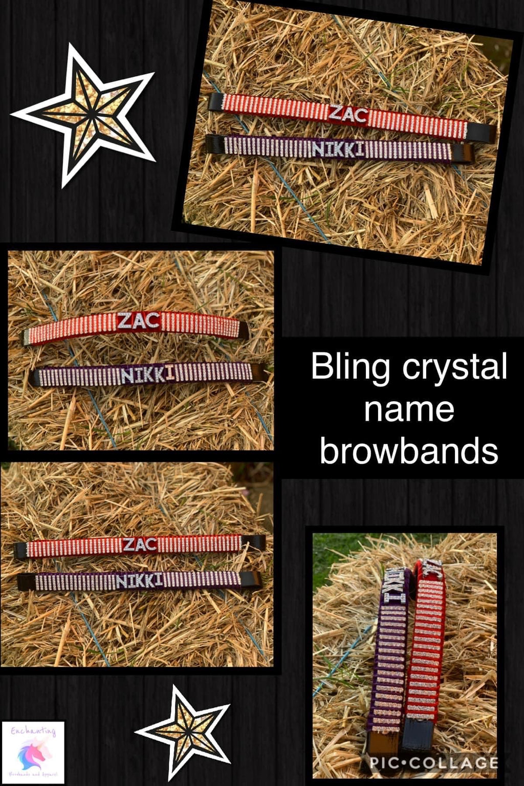 bling crystal name browband