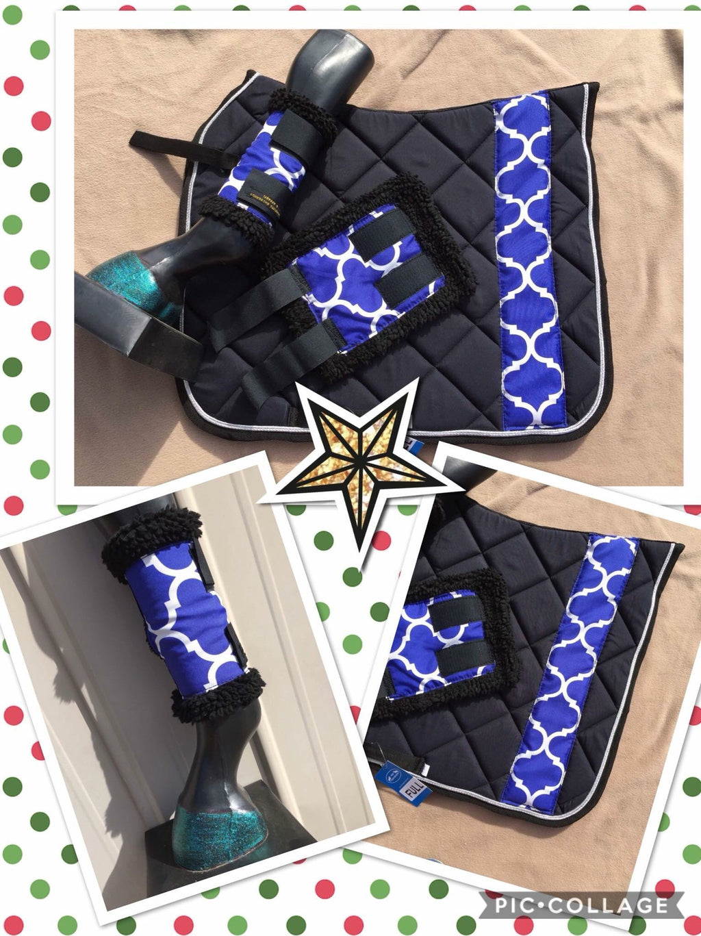 Blue & white matchy set (set of 4 boots)