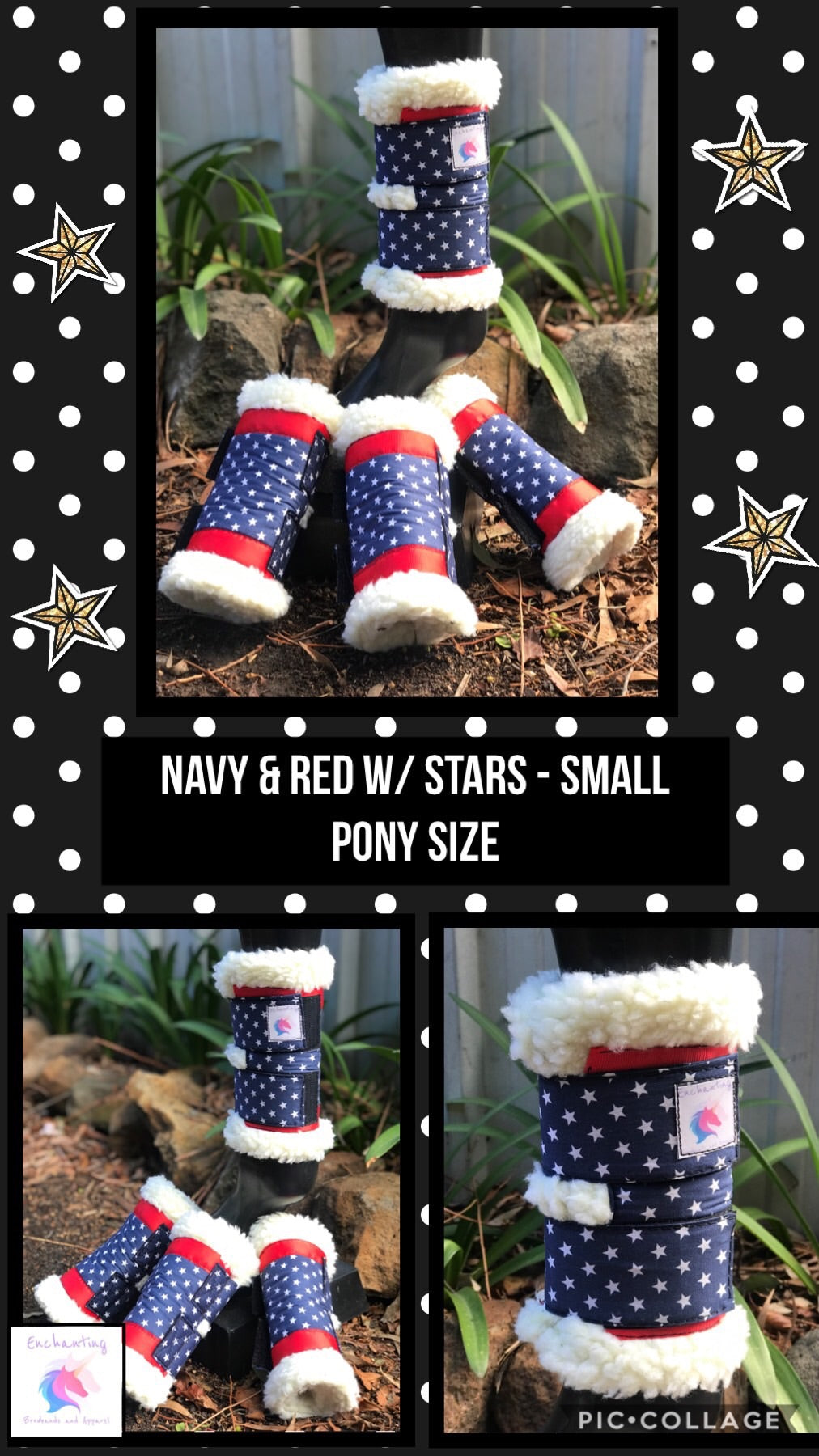 Navy & red w/ stars boots