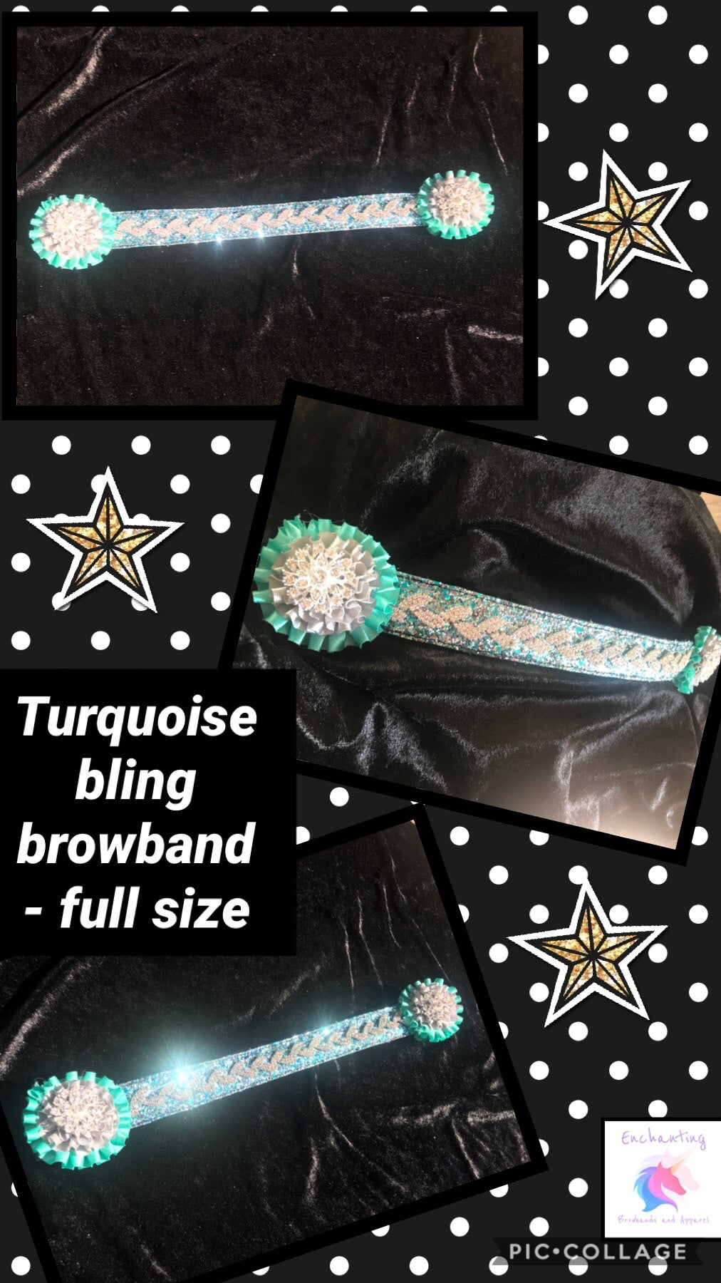 Turquoise bling browband
