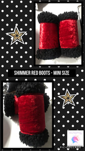 Shimmer red boots