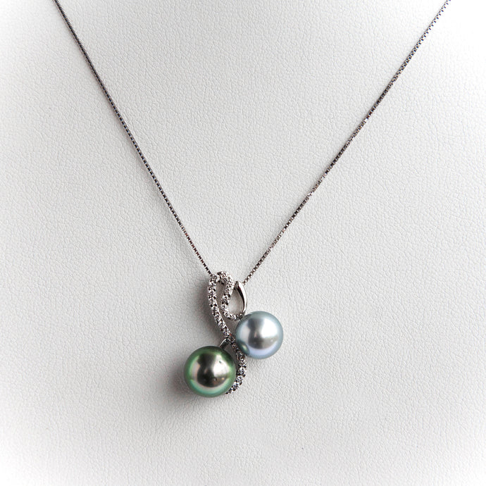 Black Tahitian Pearl Silver Necklace Pendant
