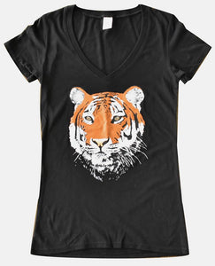 Relaxed Fit V-Neck Bamboo T- Tiger