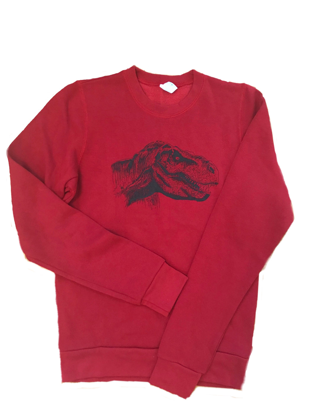 Three End Bamboo Fleece Crewneck Sweatshirt- Dinosaur