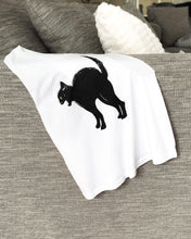 White Crop Racer-back Tank Top - Black Cat
