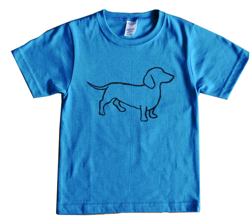 Kid's and Youth Ring Spun Cotton - Dachshund Design