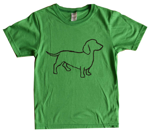 Kid's and Youth Ring Spun Cotton - Dachshund Design (Weiner Dog)