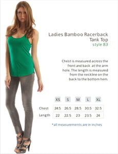 Tank-Ladies Bamboo Racerback Tank Top- Great White