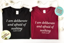 Fine Jersey T-Shirt - I am Deliberate and Afraid of Nothing