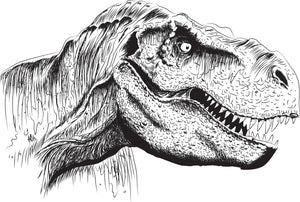 Our original artwork dinosaur (t-Rex) design