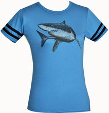 Varsity Tee Slim/ Ladies Fit- Great White