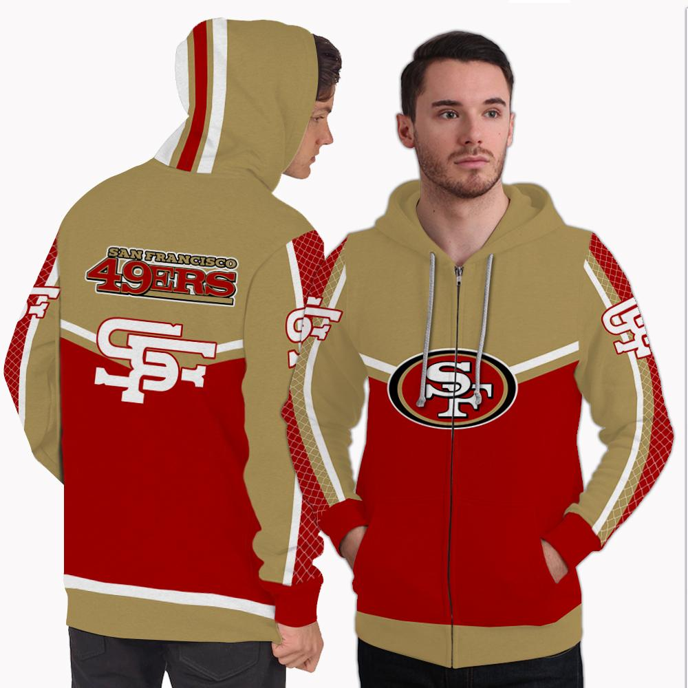 Strong Gorgeous Fitting San Francisco 49ers Zip Hoodie