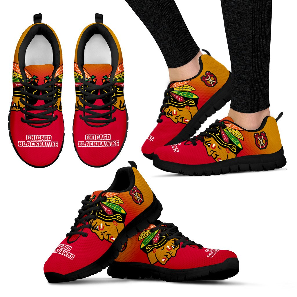 Awesome Unofficial Chicago Blackhawks Sneakers