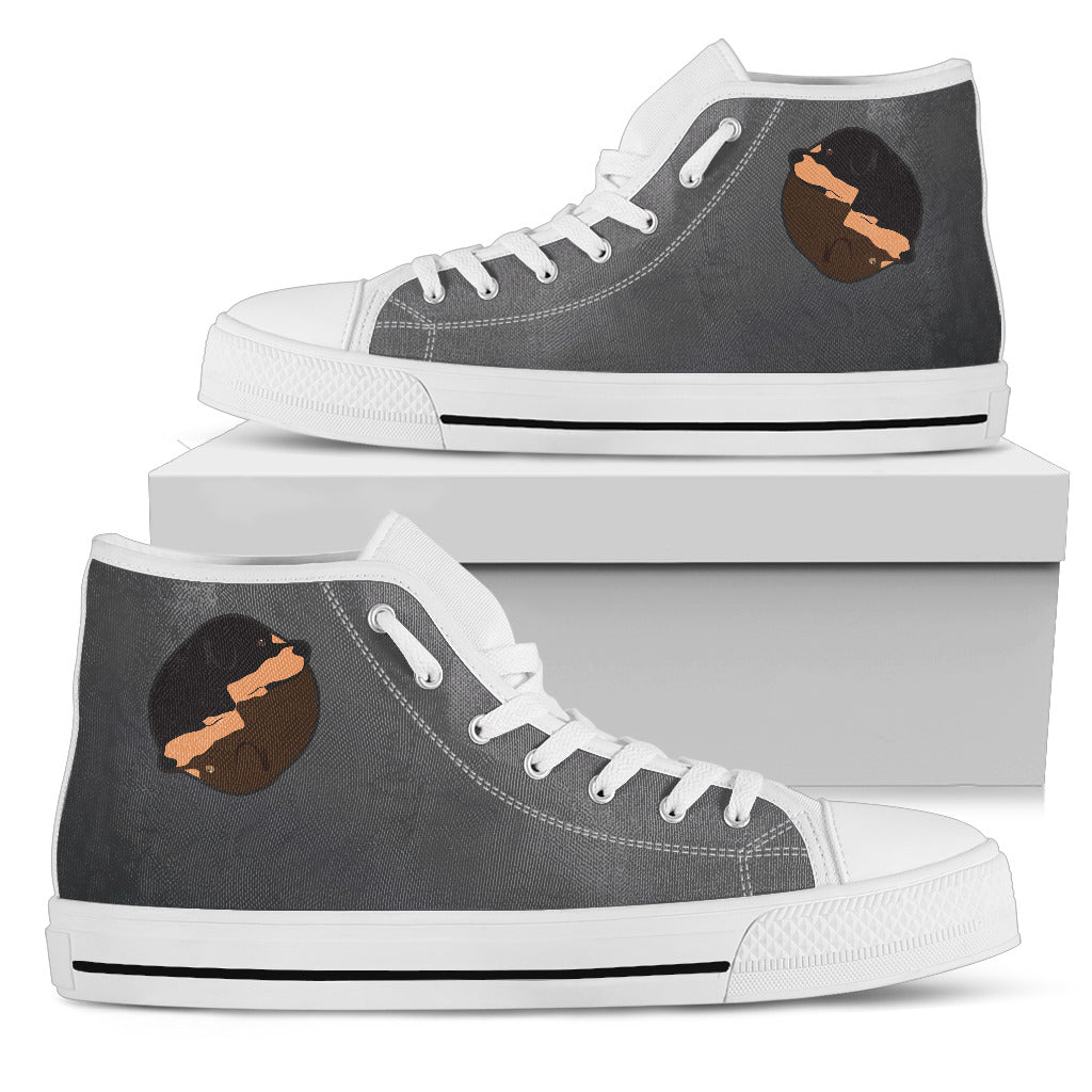 Yin Yang Style Rottweiler High Top Shoes