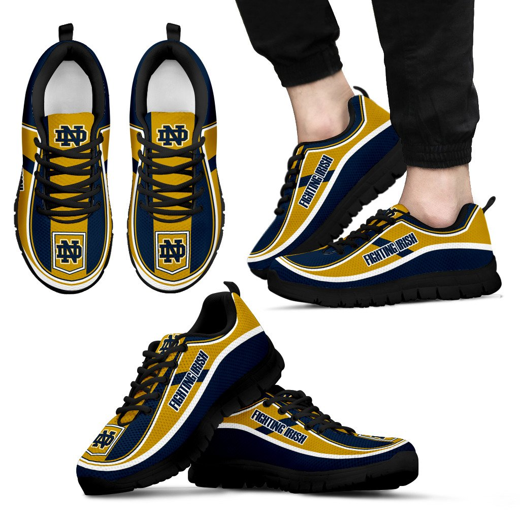 Simple Color Flag Notre Dame Fighting Irish Sneakers