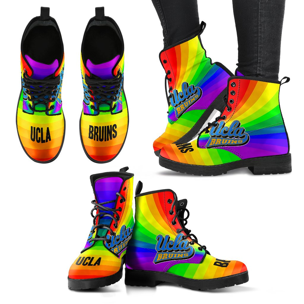 Awesome Rainbow UCLA Bruins Boots