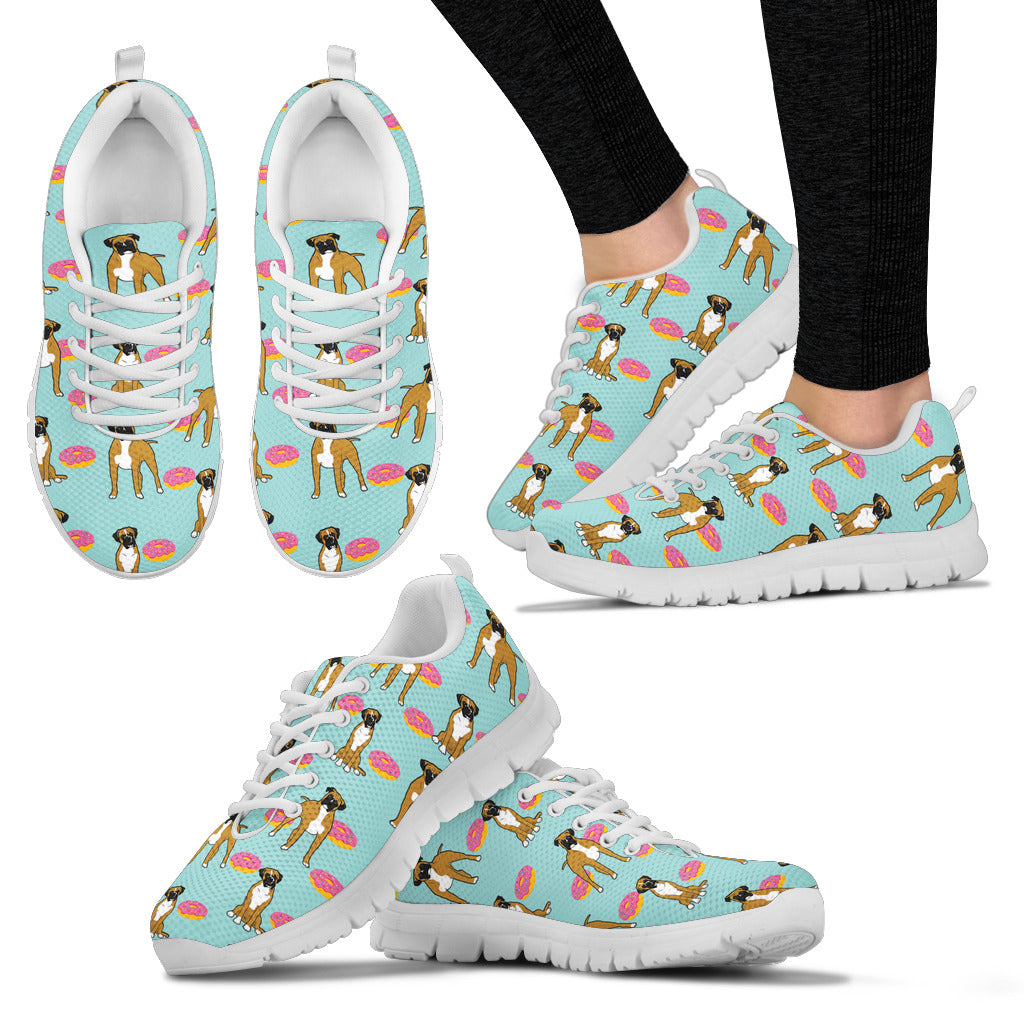Retro Donuts Pattern Boxer Sneakers