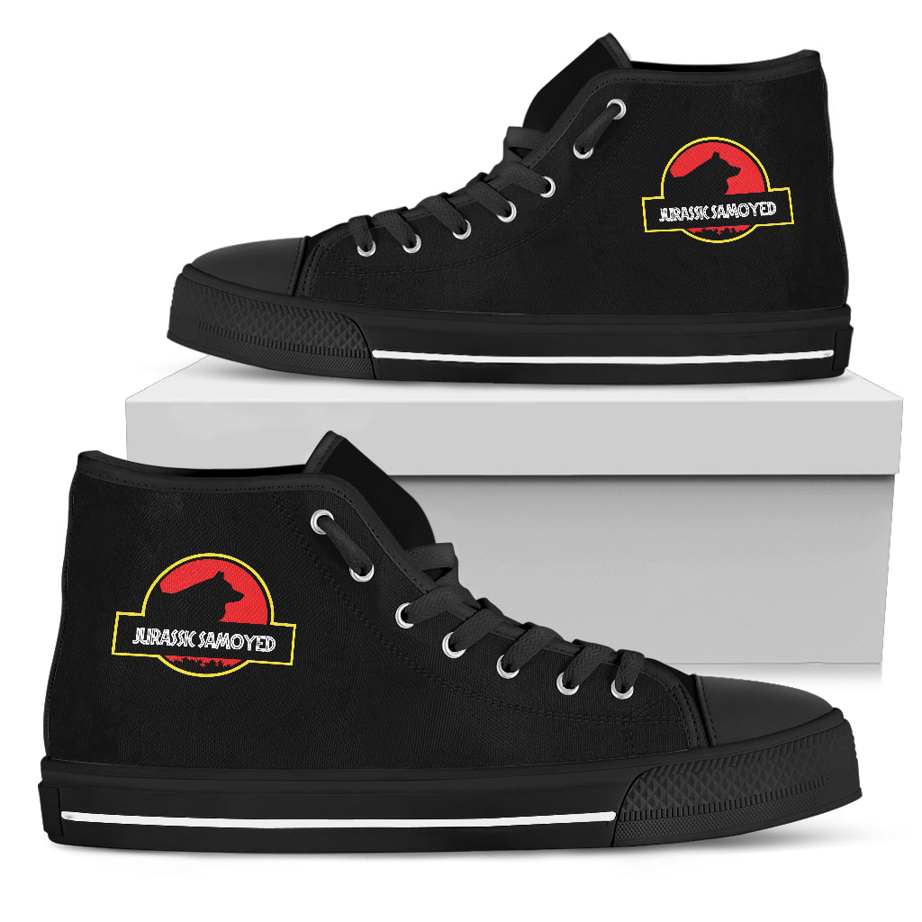 Jurassic Park Samoyed High Top Shoes