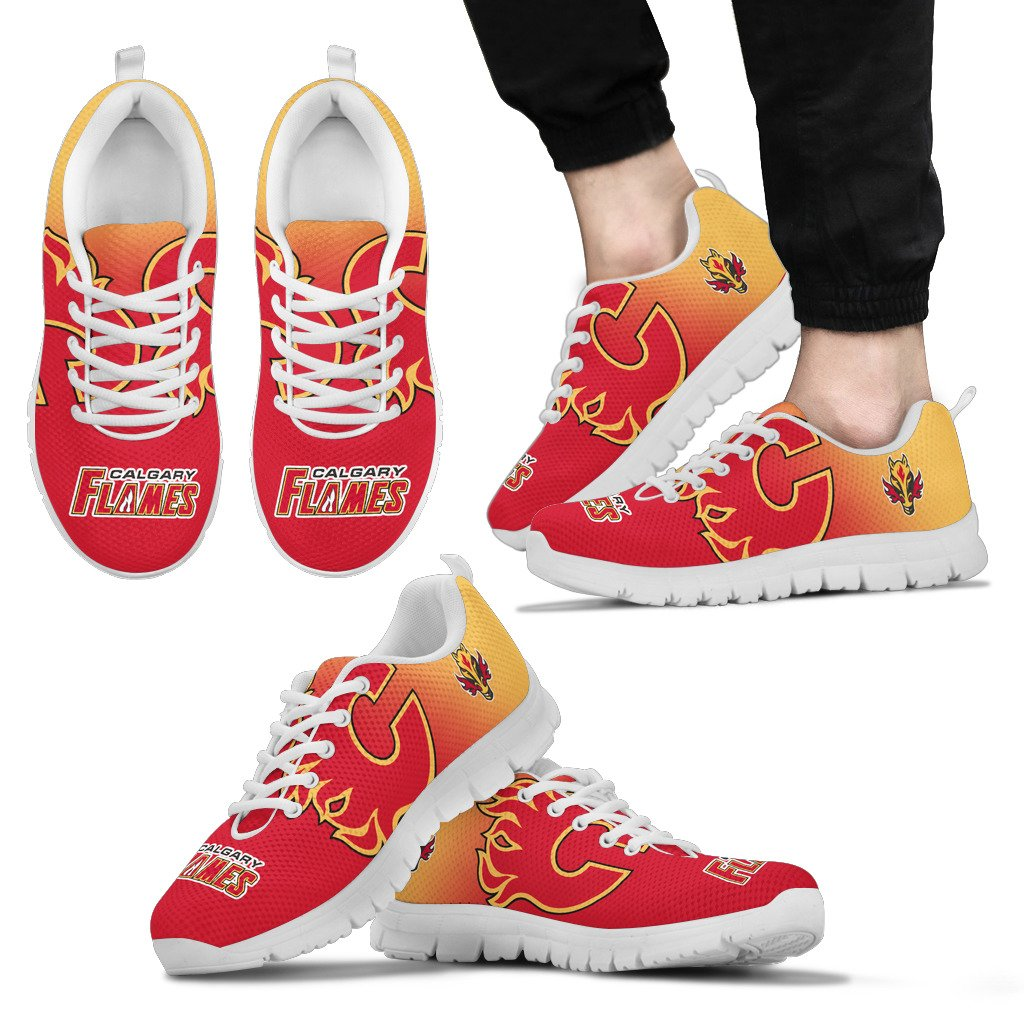 Awesome Unofficial Calgary Flames Sneakers