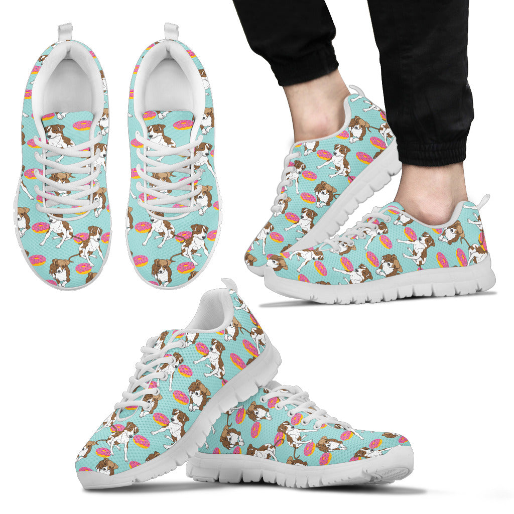 Retro Donuts Pattern Greyhound Sneakers