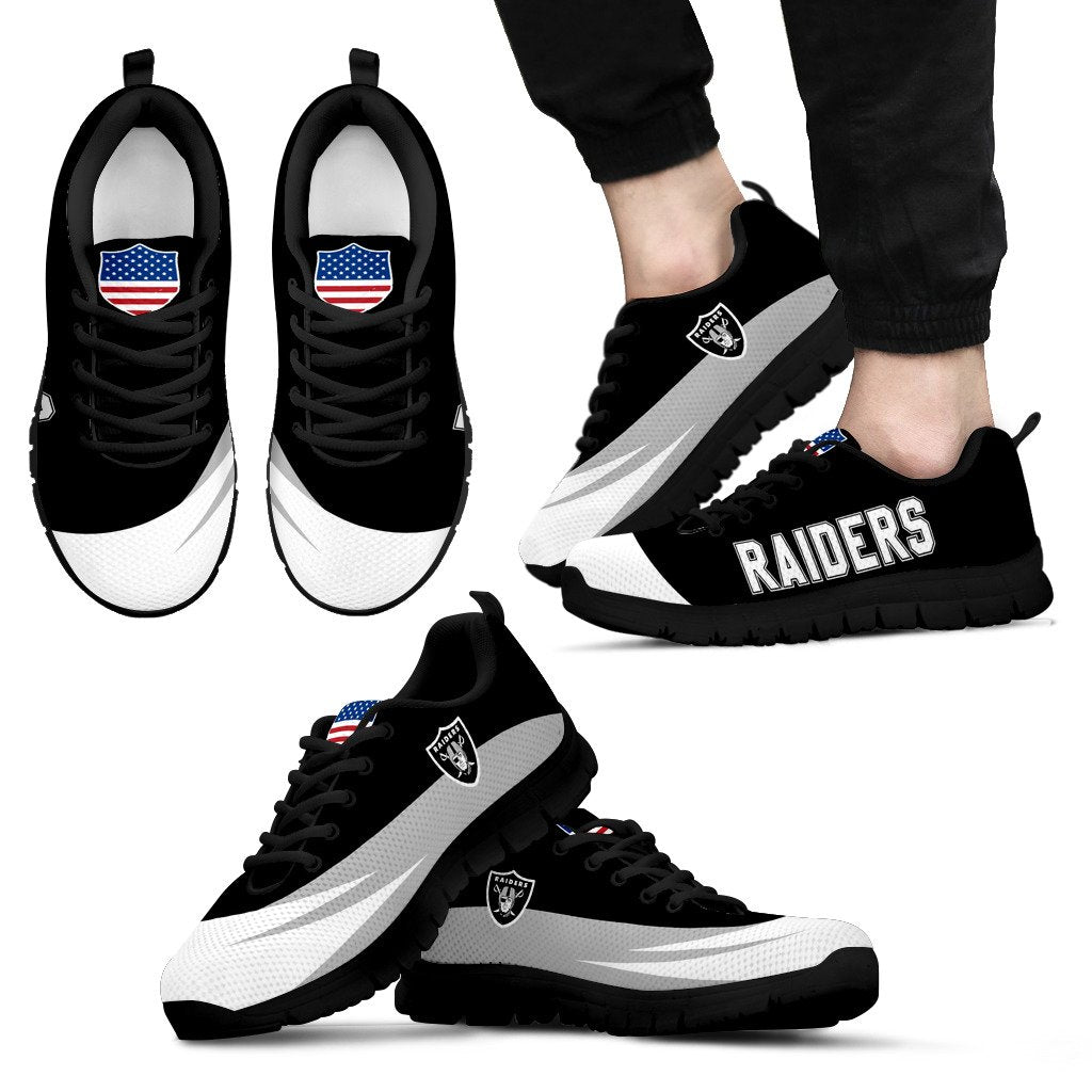 Special Gift Logo Oakland Raiders Sneakers