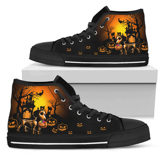 Wonderful Dachshund - Happy Halloweiner High Top Shoes