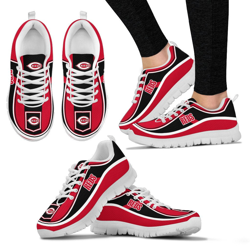 Simple Color Flag Cincinnati Reds Sneakers