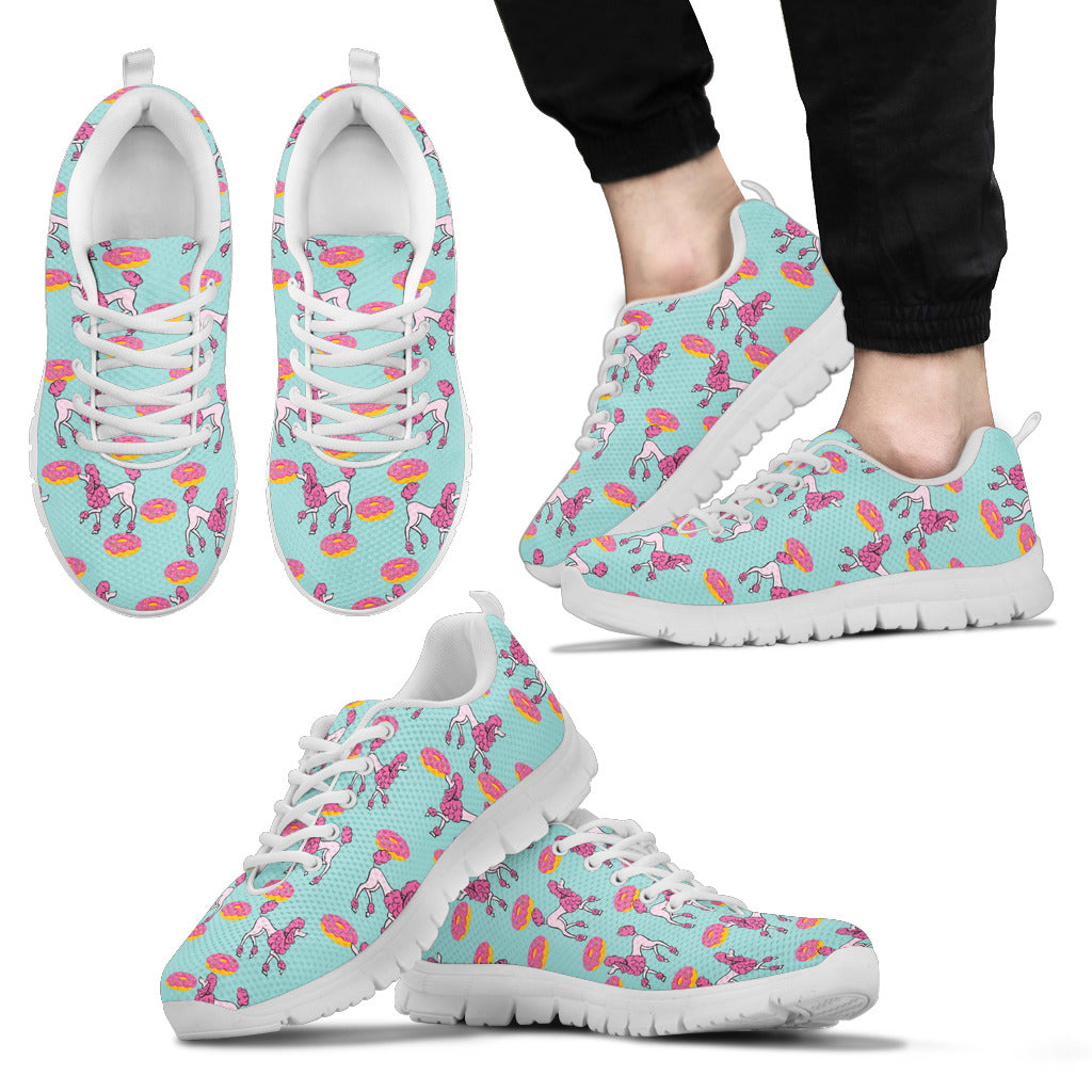 Retro Donuts Pattern Poodle Sneakers