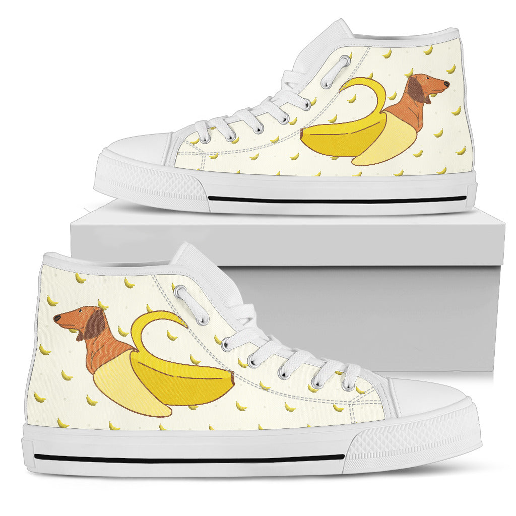 Dachshund Inside Banana Funny Gift High Top Shoes
