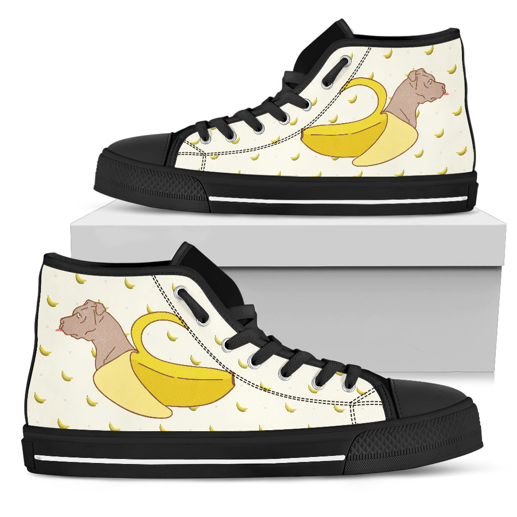 Pitbull Inside Banana Funny Gift High Top Shoes
