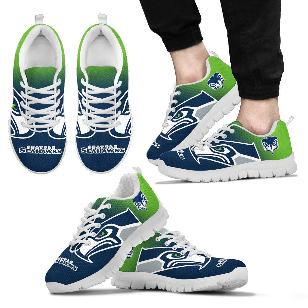 Awesome Unofficial Seattle Seahawks Sneakers