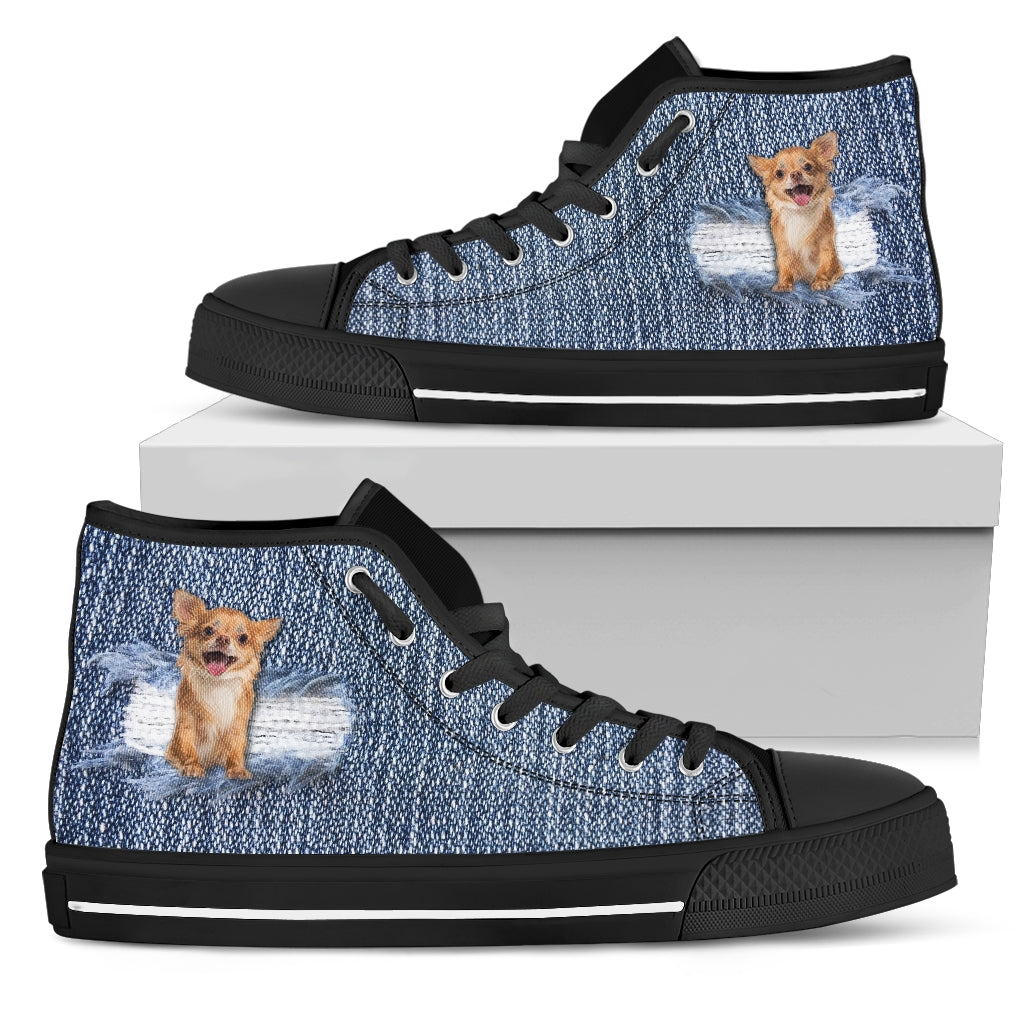 Chihuahua Break The Wall High Top Shoes