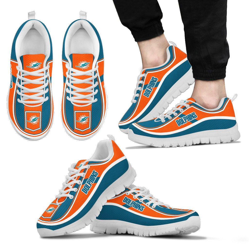 Simple Color Flag Miami Dolphins Sneakers