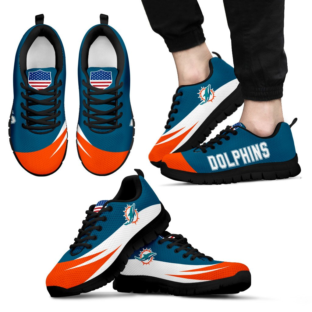 Special Gift Logo Miami Dolphins Sneakers