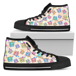 Nursery Owl Pattern High Top Shoes