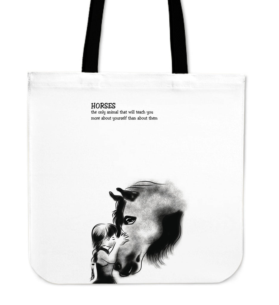 Horse - Teach You More About Yourself Tote Bags