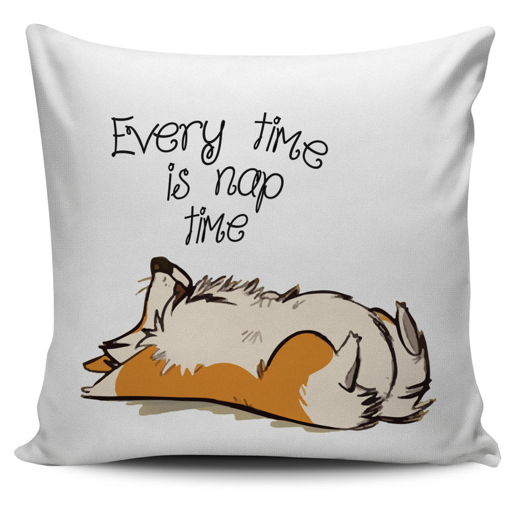 Cute Dog Pillow Covers - Every Time Is Nap Time Ver 2, is a gift