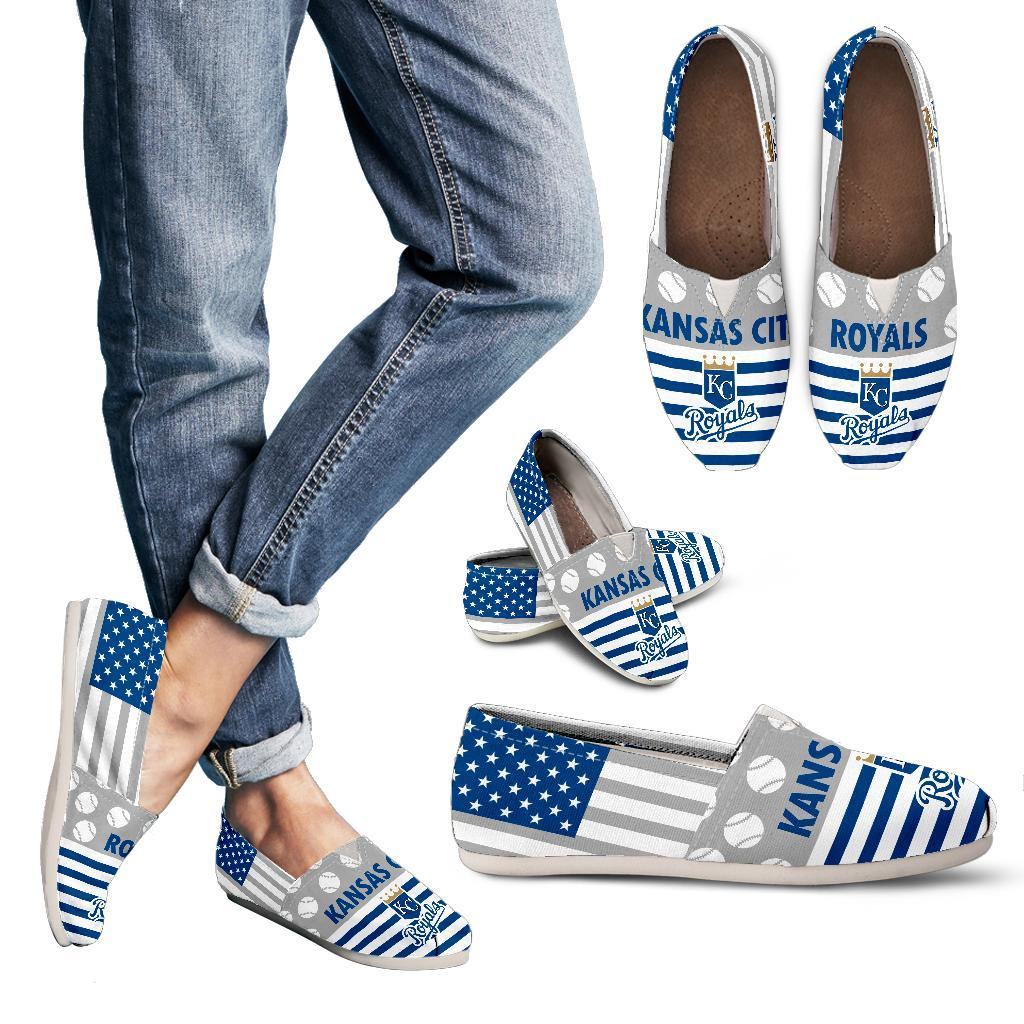 Proud of American Flag Kansas City Royals Casual Shoes