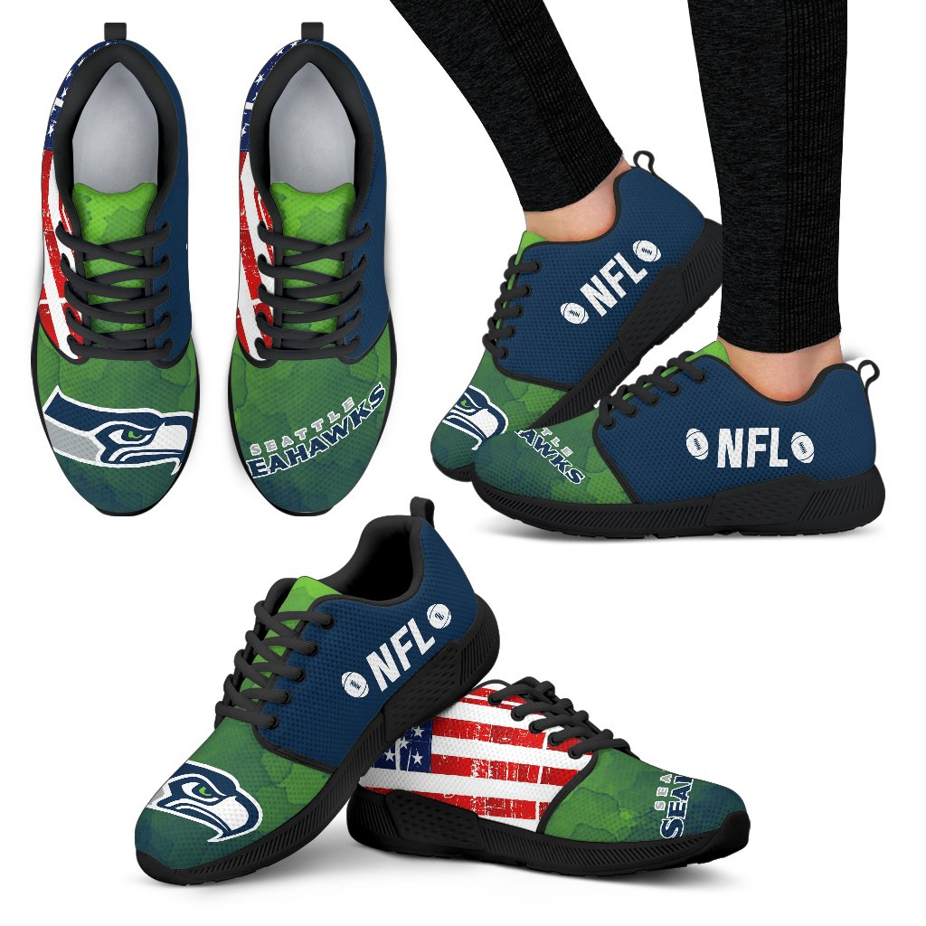Awesome Fashion Seattle Seahawks Shoes Athletic Sneakers