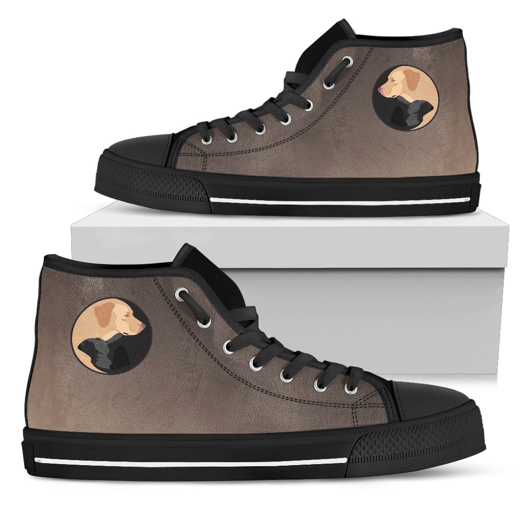 Yin Yang Style Labrador High Top Shoes