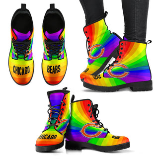 Awesome Rainbow Chicago Bears Boots