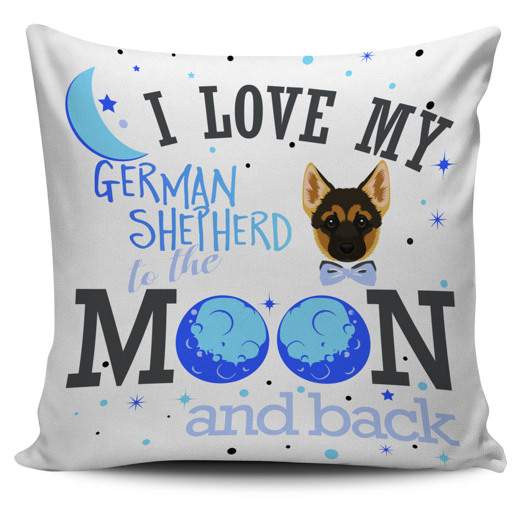 I Love My Germen To The Moon And Back Pillow Covers
