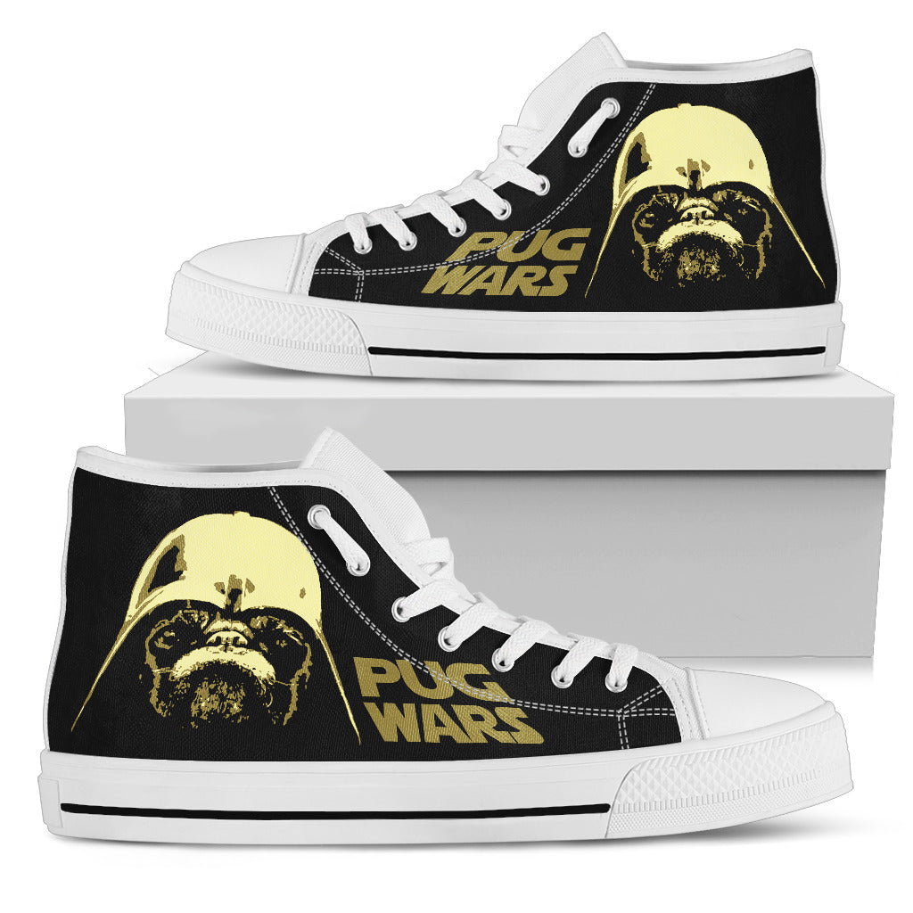 Pug Wars Funny Star Wars High Top Shoes