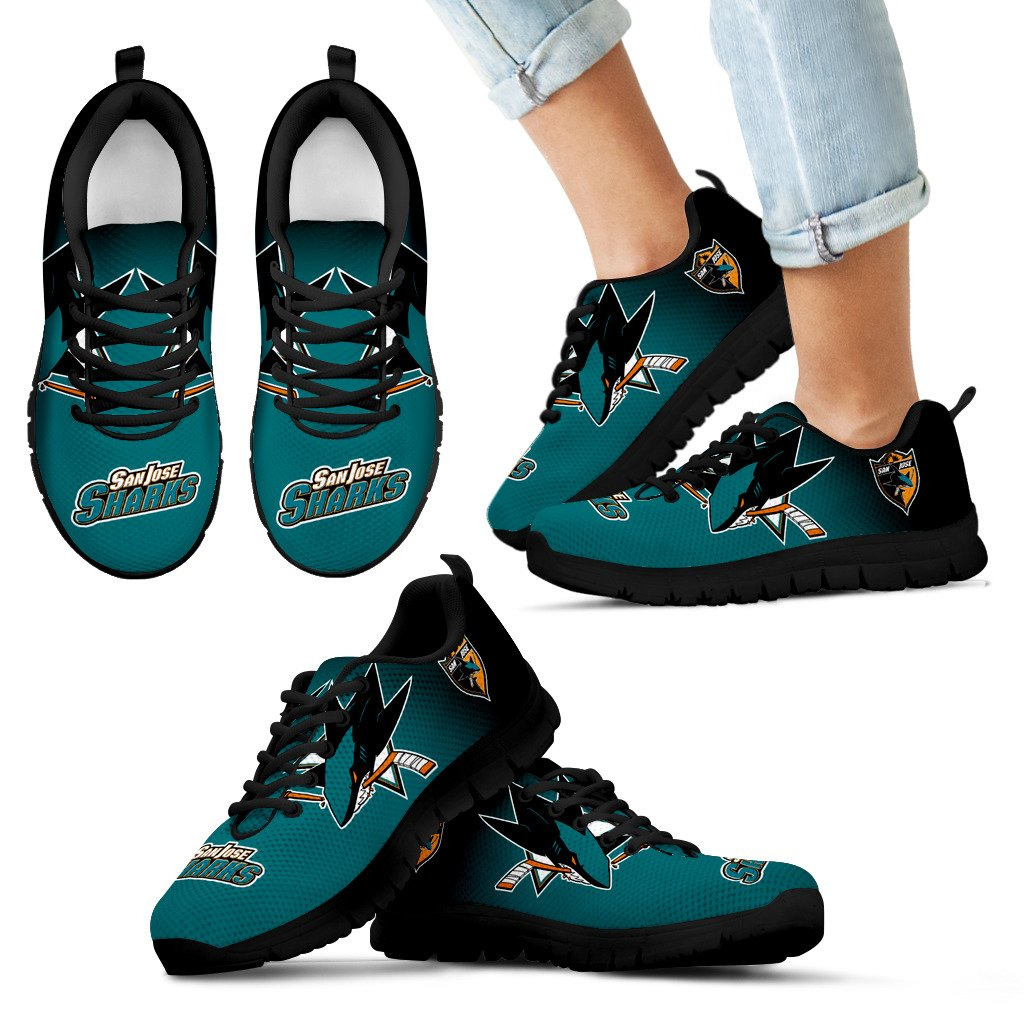 Awesome Unofficial San Jose Sharks Sneakers