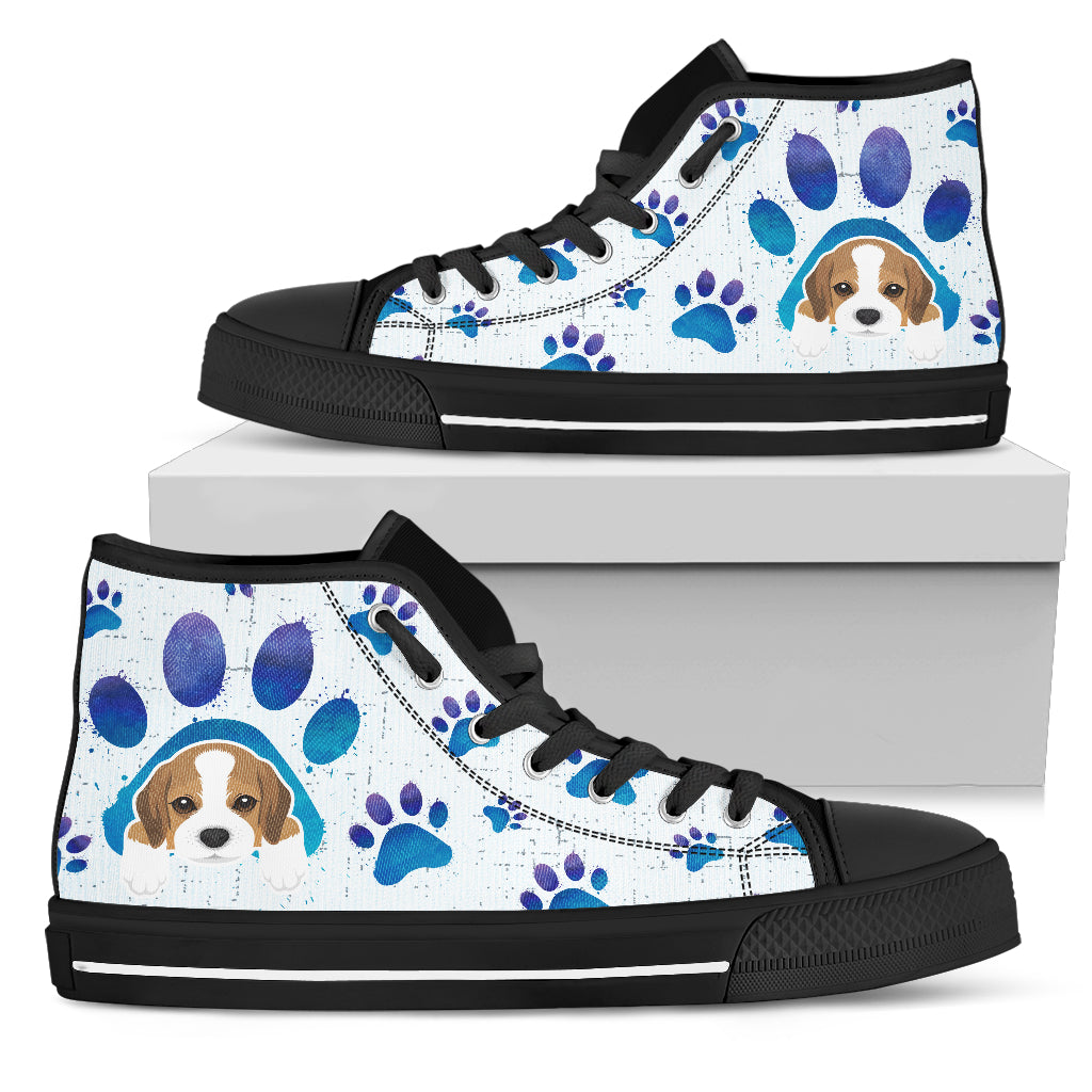 Beagle Paws High Top Shoes