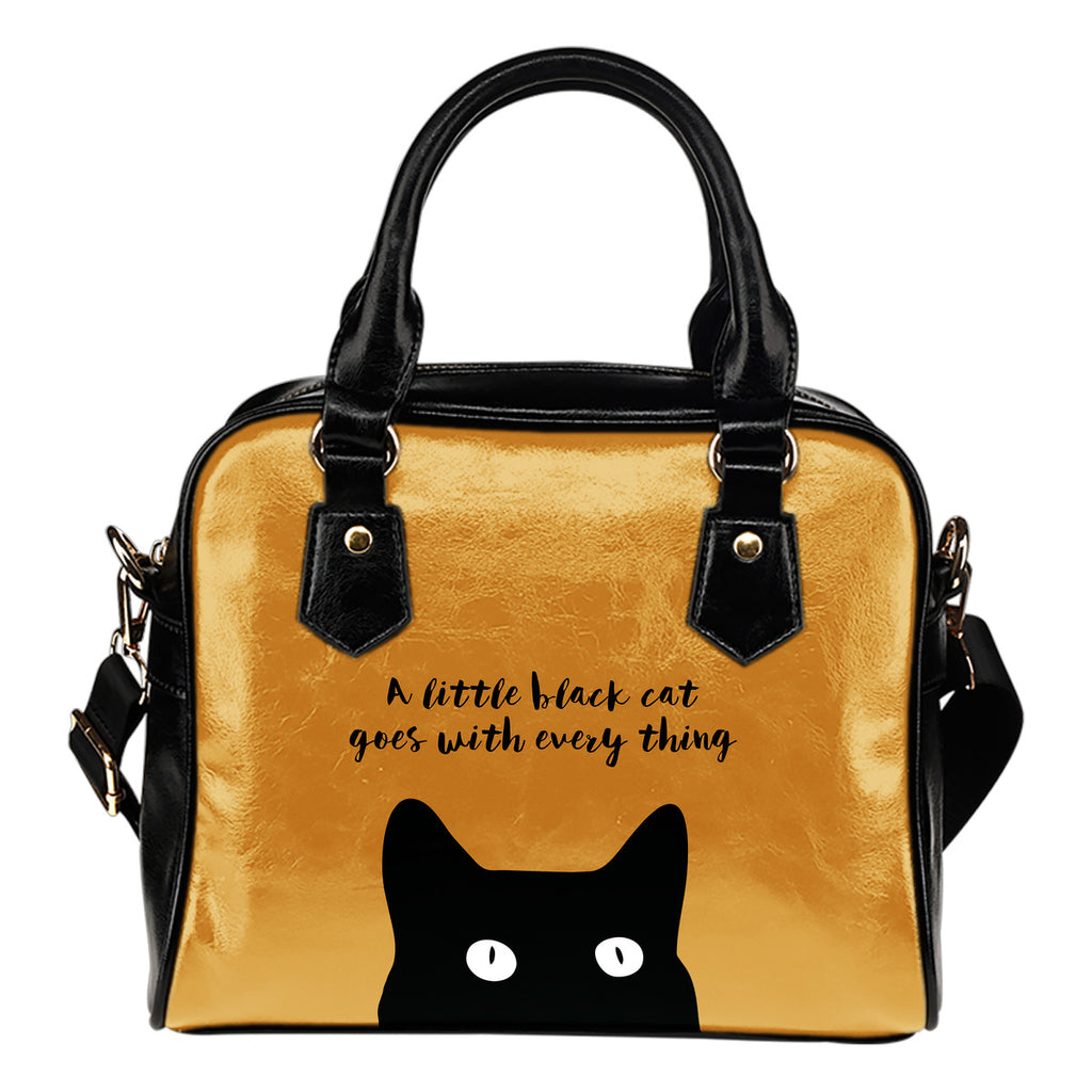 A Little Cat Goes With Everything Shoulder Handbag Gift For Girl